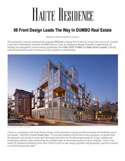 Haute Residence, 98 Front Design Leads T