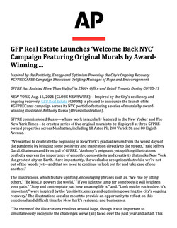 AP, GFP Real Estate Launches 'Welcome Back NYC' Campaign, 08.16.21