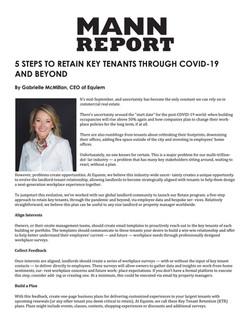 Mann Report, 5 STEPS TO RETAIN KEY TENAN