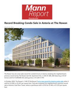 Mann Report Residential, Record Breaking