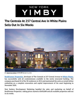 YIMBY, The Centrale At 257 Central Ave In White Plains Sells Out In Six Weeks, 07.26.21