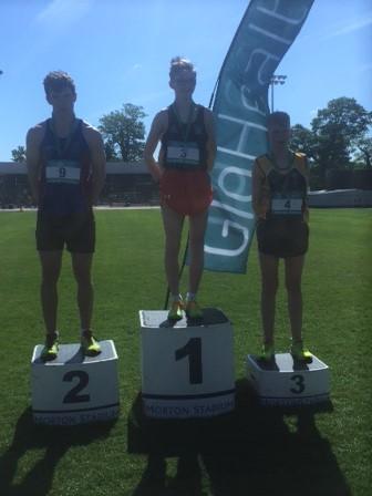 Adam Mcinerney winning gold in Leinster schools walk