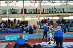 Conn Kehoe throwing the Shot Putt at the Indoor National Championships to secure bronze