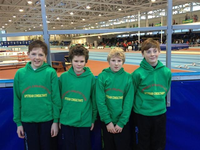 U13 boys relay team