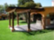 pergola terrazapino americano,estofado y preparadopara uso exterior en varias dimensiones, vigas, gualdras y postes.