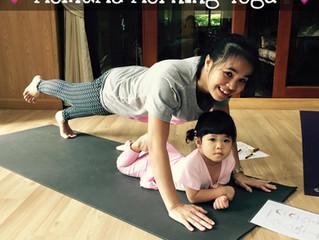 ช่วงเวลาดีดี กับ Mom and Me Yoga!!