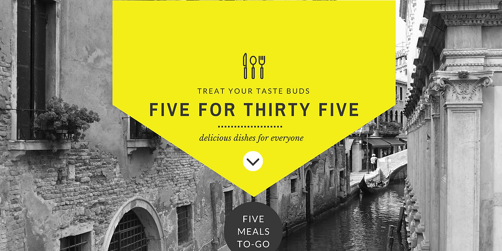 Five For Thirty Five Culinary Adventure