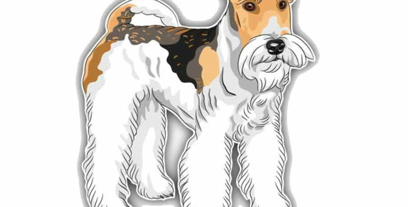 Volkrays Personality Car Sticker Wire Fox Terrier