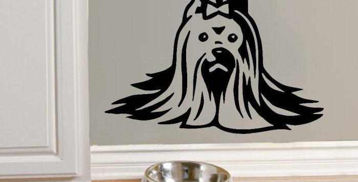 Yorkie Wall Decal Sticker