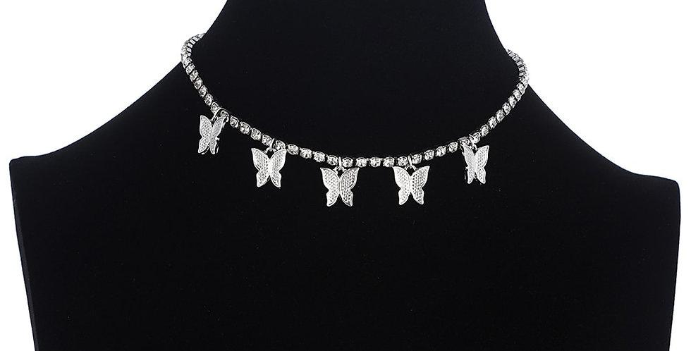 Butterfly Necklace for Women Jewelery Butterfly  Choker