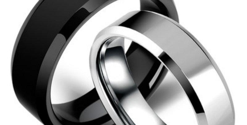 3 Color Models Ring Men Titanium Black Gold Anti-Allergy Smooth