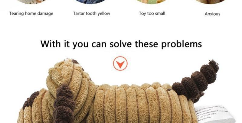 Pet Chew Toy Squeaky Cute Corduroy