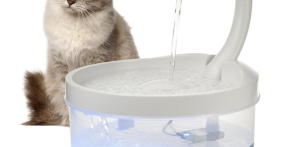 Pet Cat Fountain LED Blue Light USB Powered Automatic Water Dispenser