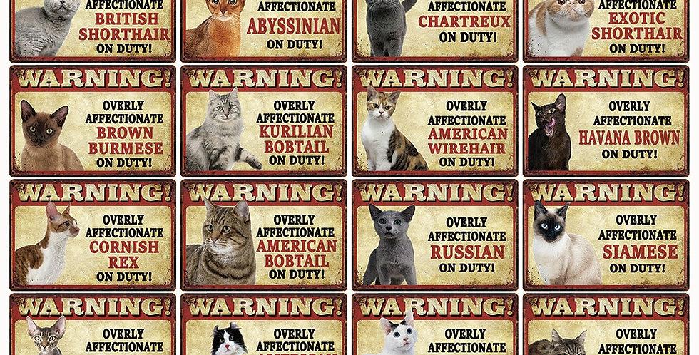 Pets Cats Warning