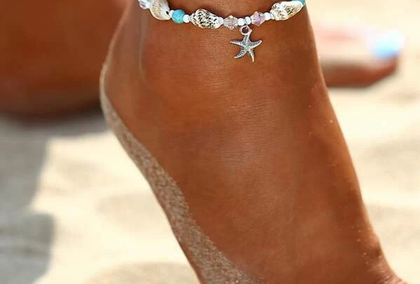 Multi Shell Mix Anklet Ankle Bracelet - Starfish