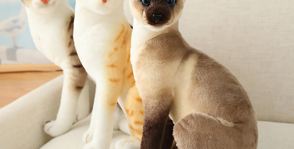 Stuffed Lifelike Simulation Cats Plush Toy