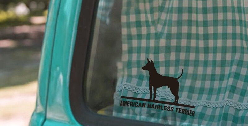 WILL BE STICKER AMERICAN HAIRLESS TERRIER Dog Decals