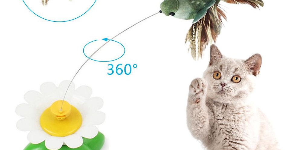 Cat Toy Electric Rotating Colorful Butterfly Bird