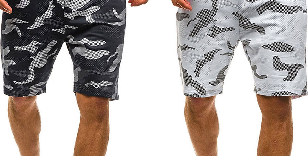 Men Camouflage Shorts Casual Male