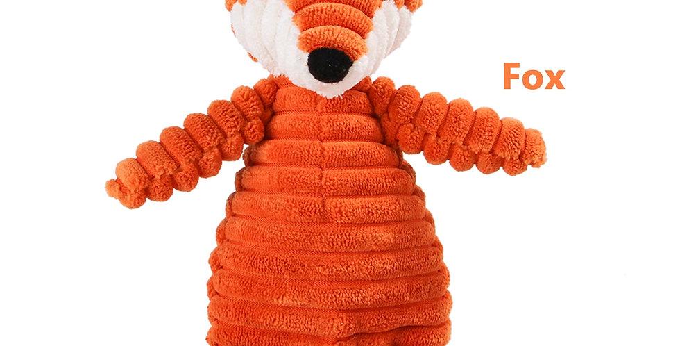 Corduroy Dog Toys for Small Large Dogs Animal Shape