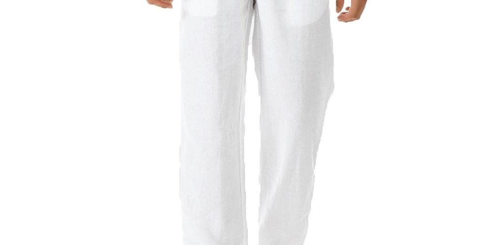 Fashion Cotton Linen Pants Men Casual Streetwear