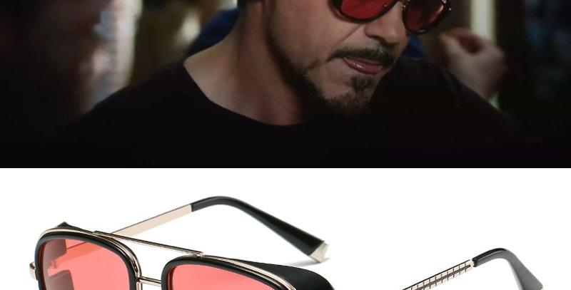 ONY Stark Sunglasses Men Rossi Coating Retro Vintage Designer