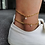 Thumbnail: Crystal Zircon Initial Letter Anklets for Women Stainless Steel