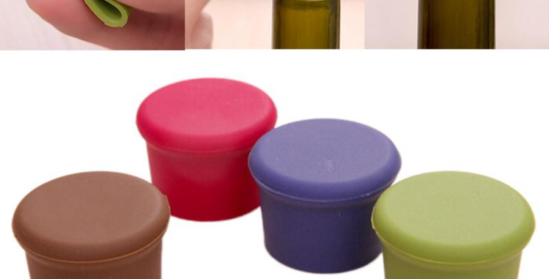 5Pcs Silicone Bottle Caps Beer Beverage Cover