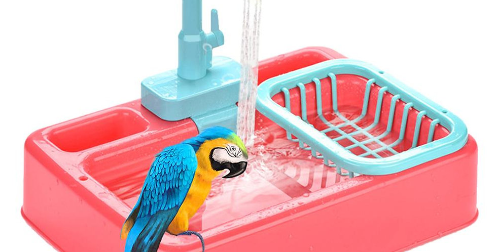 Bird Feeder Automatic Parrot Bathtub Swimming Pool