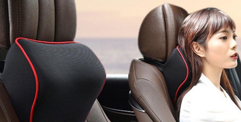 Car Neck Headrest Pillow Car Accessories Cushion Auto Seat