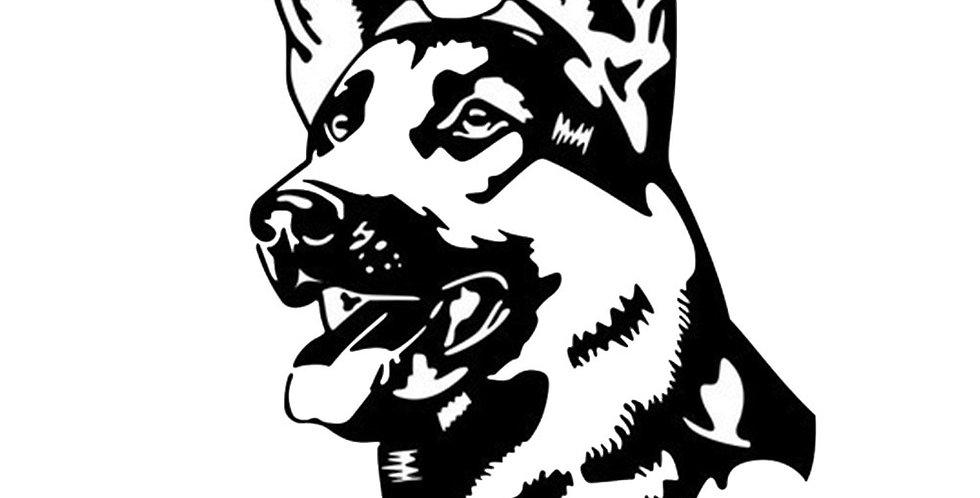 Alsation Pastor Dog Car Stickers Black/Silver Car Styling Cover