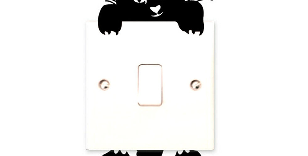 Cartoon Cat Wall Switch Stickers Light Switch Decor