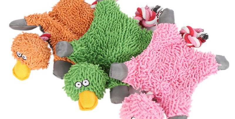 Lovely Pet Supply Cute Papa Duck Plush Dog Toy With Rope