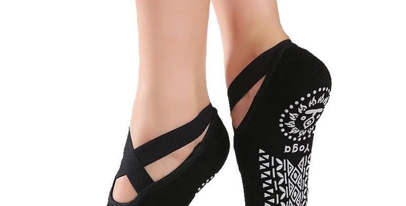 Women High Quality Bandage Yoga Socks Anti-Slip Quick-Dry