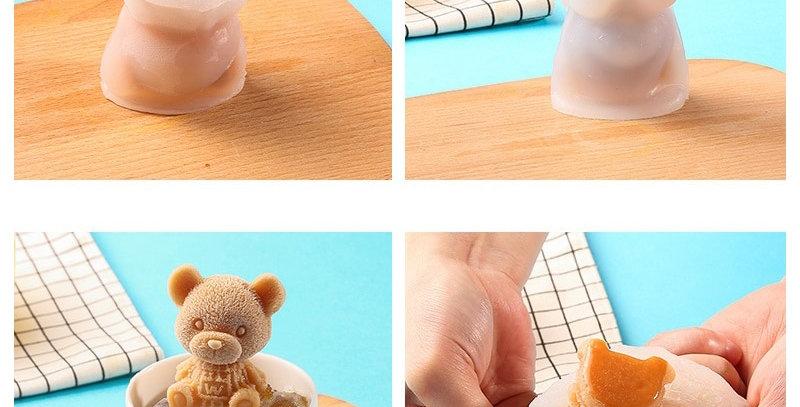 3D Silicone Bear Shape Ice Mold