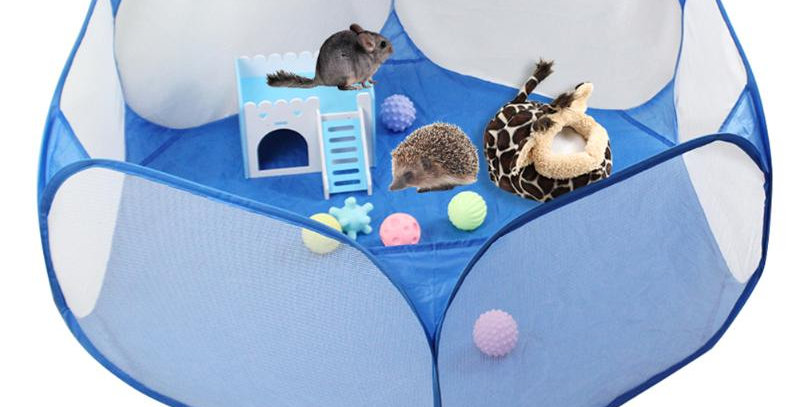 Pet Cage Tent Playpen Breathable Small Animals Folding Portable