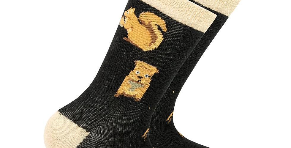 Kids Squirrel Socks
