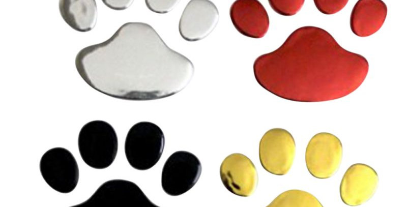 2Pcs/Set Car Sticker Cool Design Paw 3D Animal Dog Cat