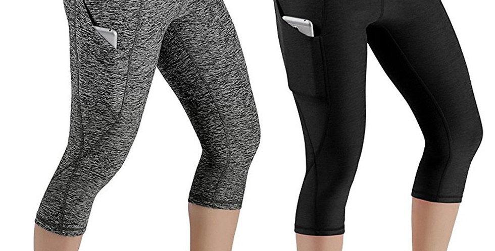 3/4 Yoga Pants Women Calf-Length Pants Capri