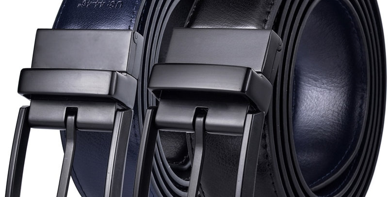 Men's Leather Reversible Belt - Classic & Fashion Designs