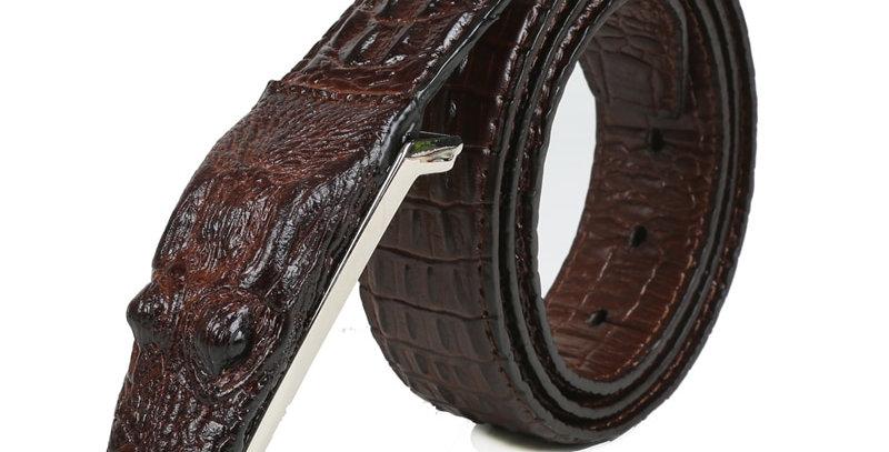 SAN VITALE 3D Crocodile Famous Brand Leather Belt Designer