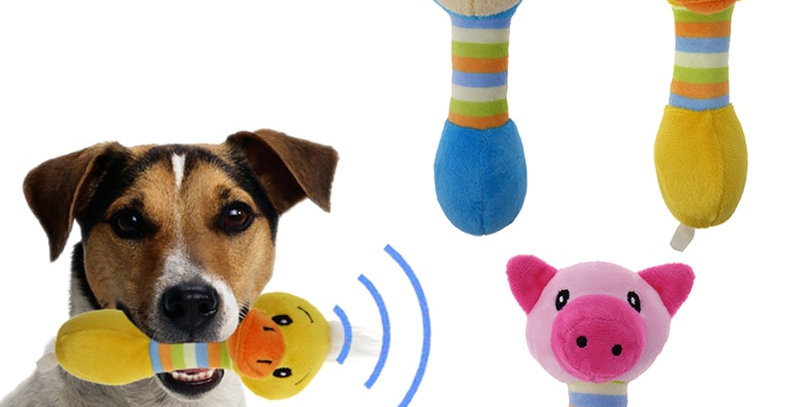 Cute Pet Dog Toys Chew Squeaker Animals Pet Toys