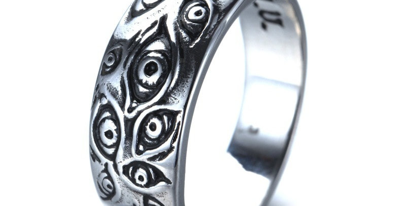 Retro Monster Gothic Eyes Ring Jewelry Men's
