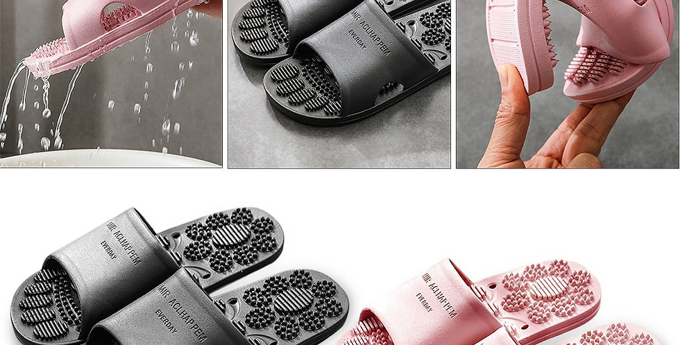 Point Slippers Unisex Women Men Non-Slip Foot Massager Slipper