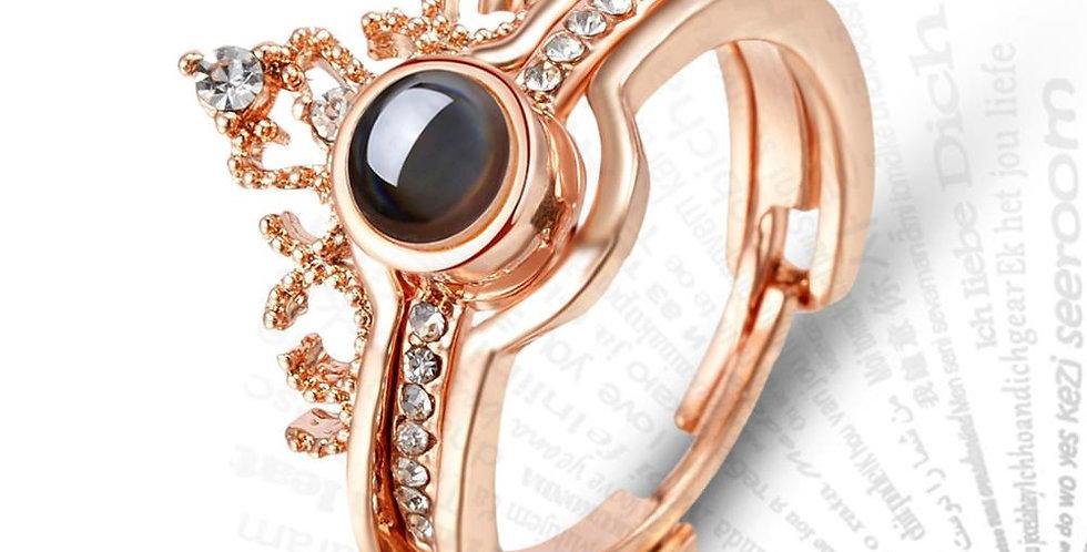 Luxury Female Bridal Wedding Ring Set Fashion I Love You