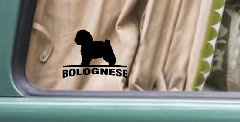 WILL BE STICKER BOLOGNESE Dog Car Door Stickers