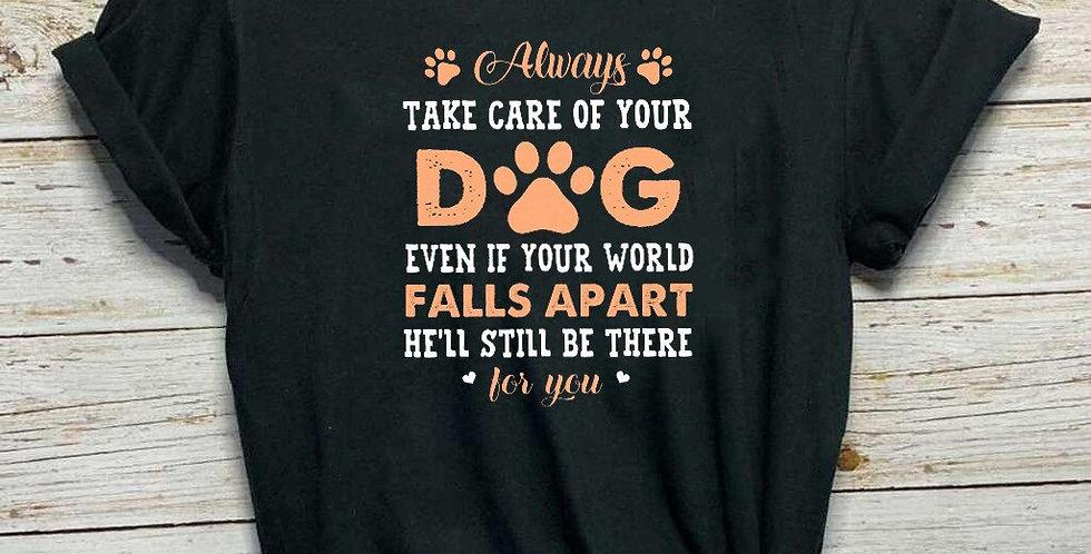 Plus Size Women Tshirts Fashion Casual O-Neck Tee Shirt Take Care of Your Dog