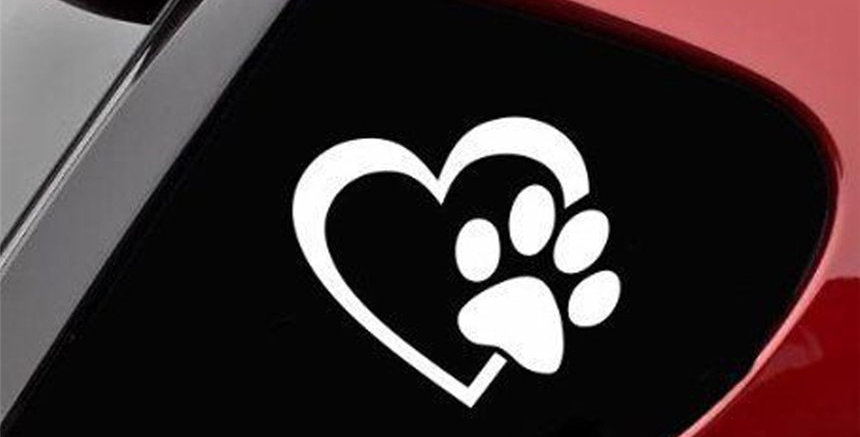 HEART With DOG PAW