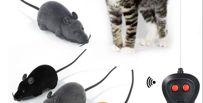 Pet Cat Mice Toy Wireless Remote Control Electronic Rat Mouse