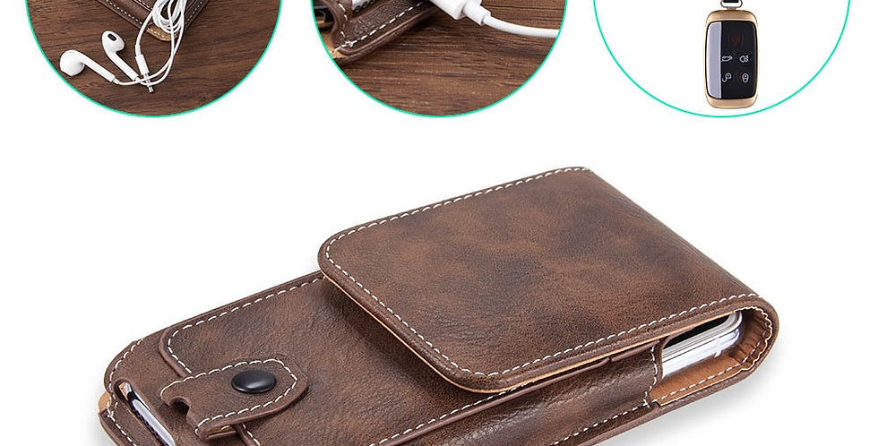 Universal Pouch Leather Phone Case for iPhone